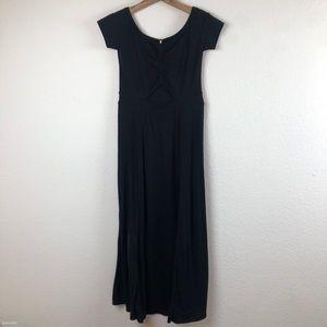 Free People Black Maxi Keyhole Dress Small